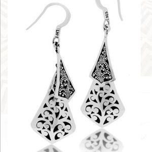 Lois Hill Sterling Silver Scroll Design Earrings